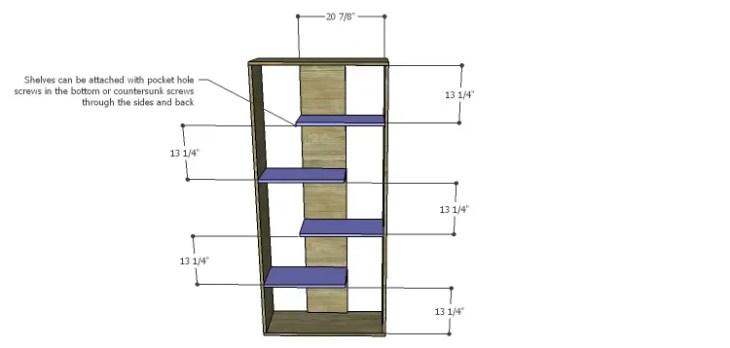 Truman Shelving Unit Plans-Shelves