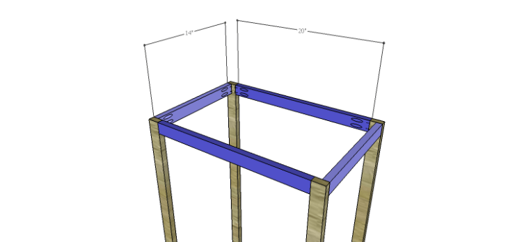 Plans to Build an Open Shelving Bookcase-Stretchers