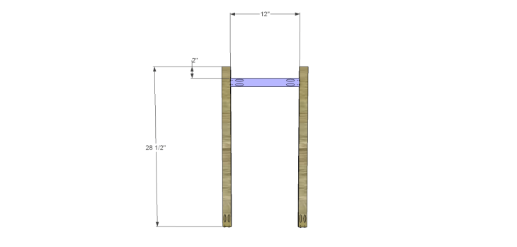 Plans to Build a Space Saving Table and Stools-Divider Frame 1