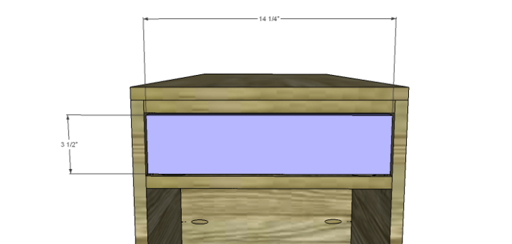 Hartford End Table Plans-Drawer Front