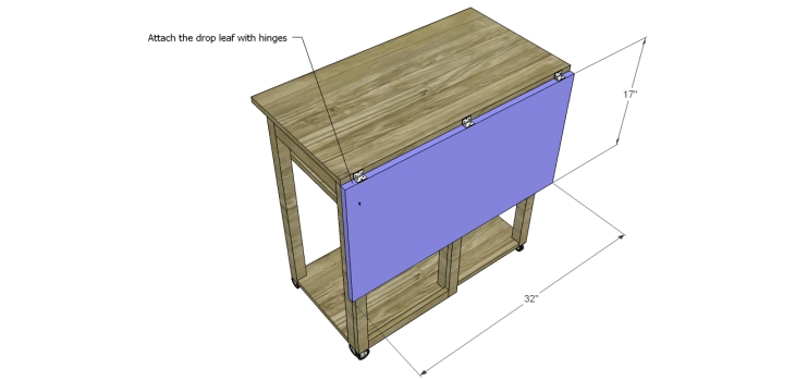 Plans to Build a Space Saving Table and Stools-Drop Leaf
