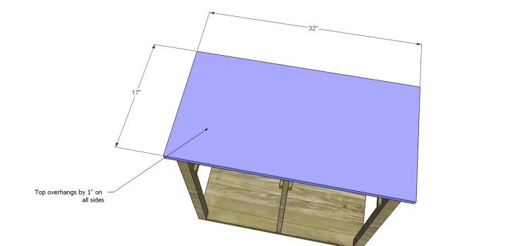 Plans to Build a Space Saving Table and Stools-Top