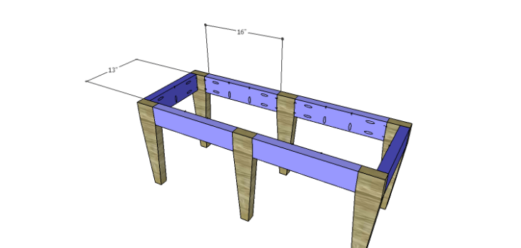DIY 2x4 Bench Plans-Stretchers