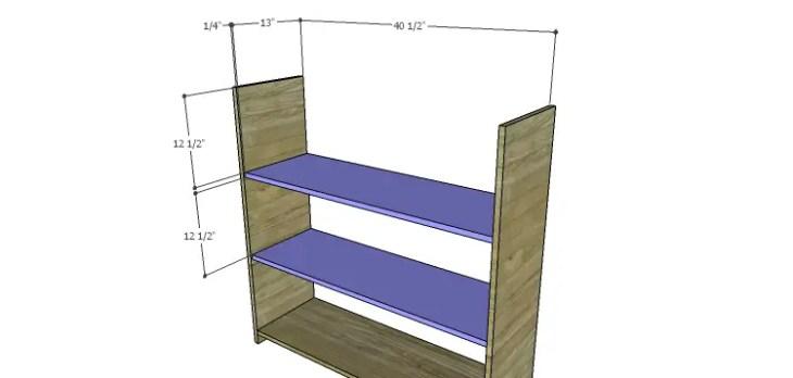 Biltmore Cabinet Plans-Shelves