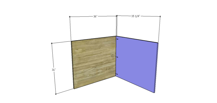Corner Kitchen Cabinet Plans-Lower Back