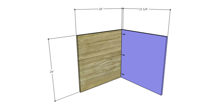 Corner Kitchen Cabinet Plans-Upper Back