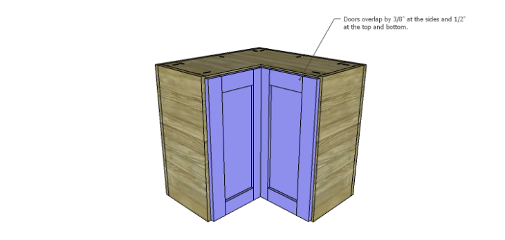 Corner Kitchen Cabinet Plans-Upper Doors 3