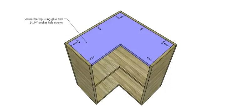 Corner Kitchen Cabinet Plans-Upper Top