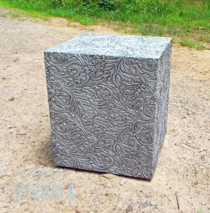 Plans to Make a Faux Metal End Table DSCF1743