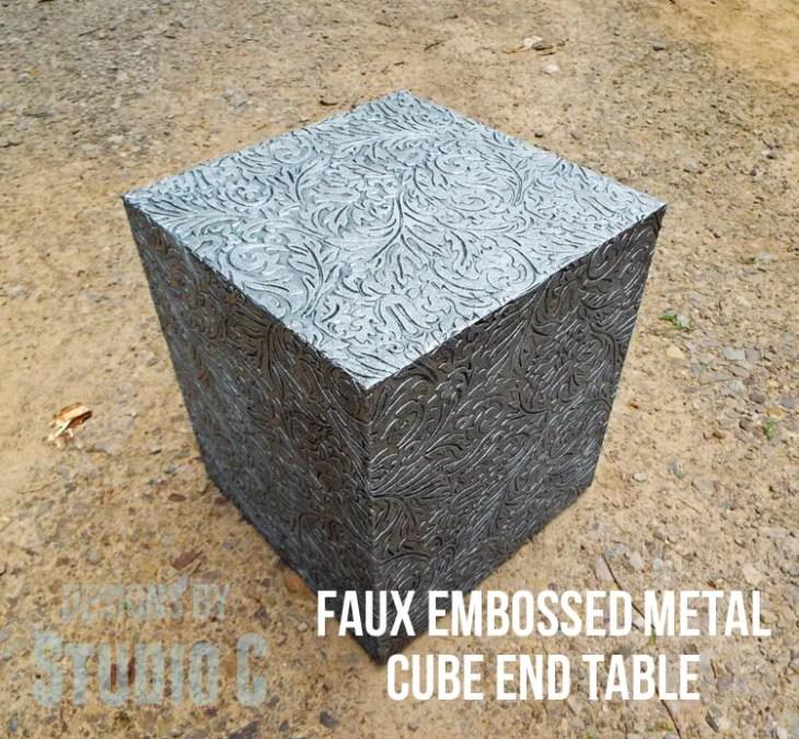 Plans to Make a Faux Metal End Table DSCF1744