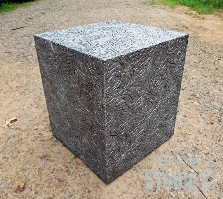 Plans to Make a Faux Metal End Table DSCF1745