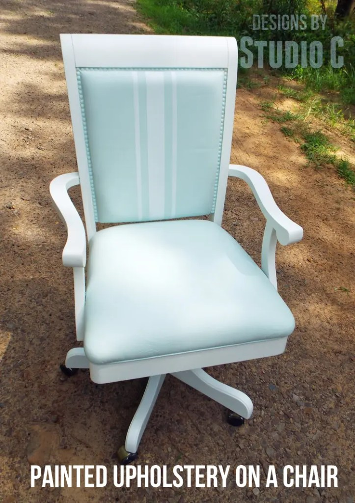 An easy makeover for an old office chair for Paint office chair