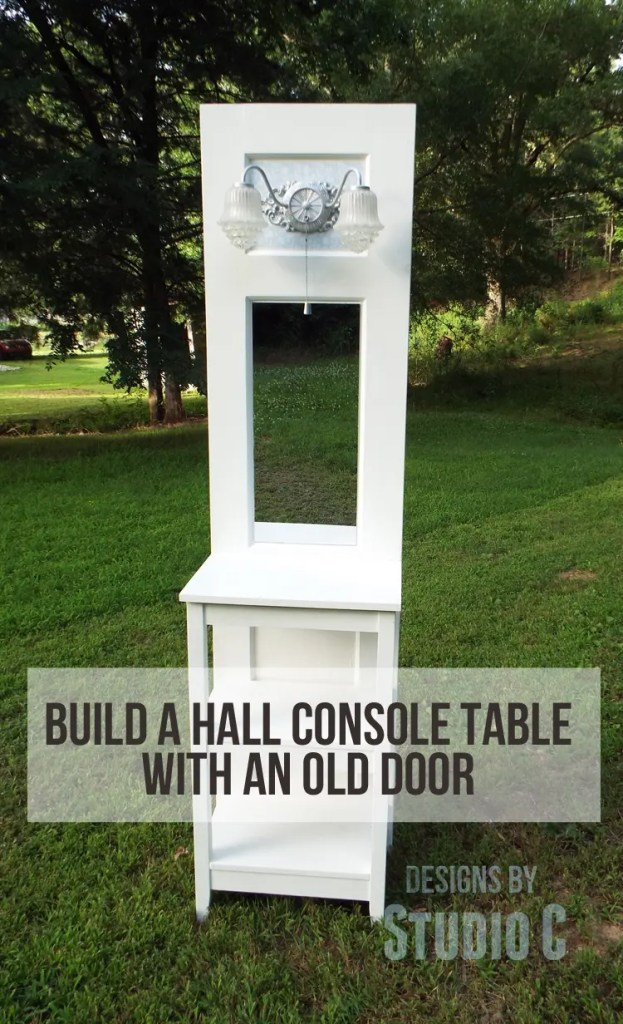 Upcycle an old door into a stunning table designs by - Make a table from an old door ...