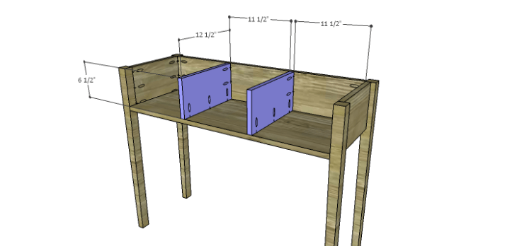 Miriam Console Table Plans-Dividers
