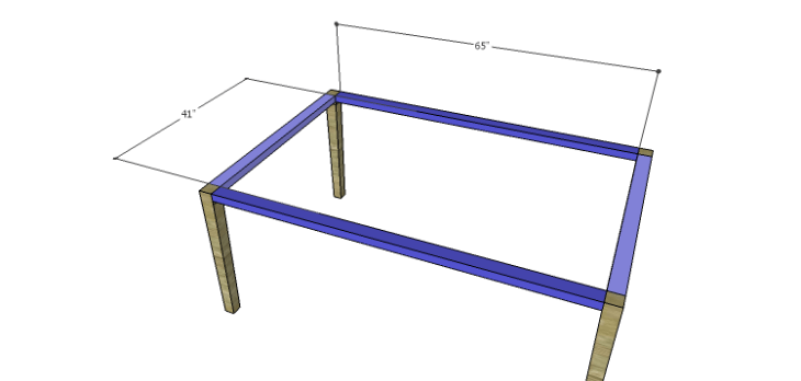 Plans to Build a Luna Dining Table-Frame