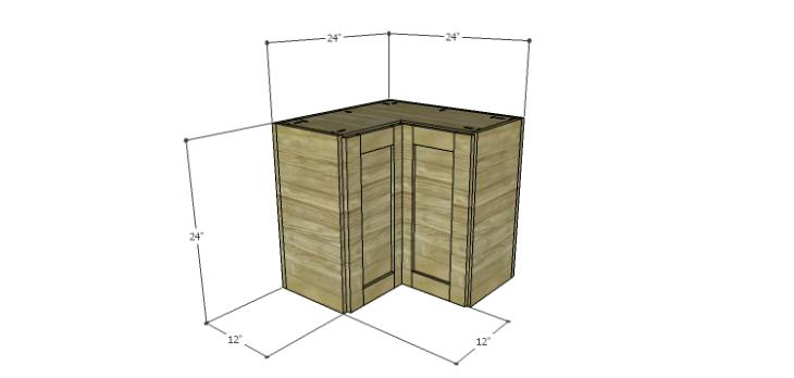How to build corner kitchen cabinets designs by studio c for Building upper corner kitchen cabinets