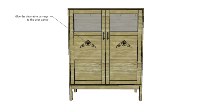 DIY Vintage Pantry Cabinet Plans-Carvings