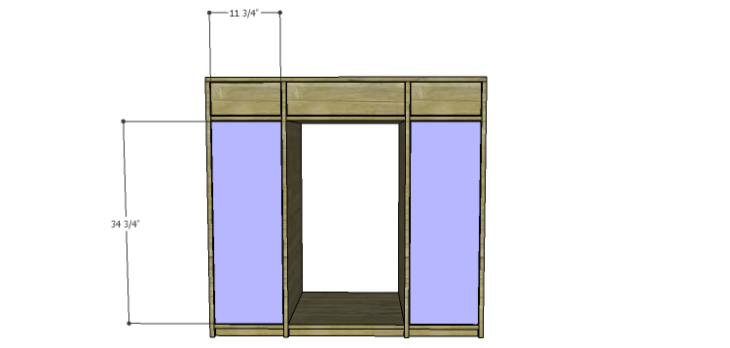 DIY Mini Fridge Cabinet Plans-Doors