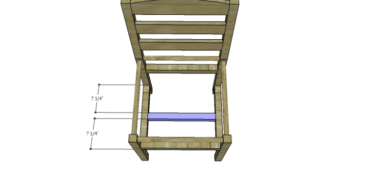 DIY Plans to Build a Splint Seat Chair-Center Stretcher