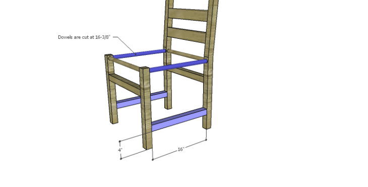 DIY Plans to Build a Splint Seat Chair-Side Stretchers