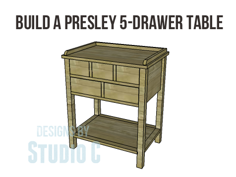 Presley 5-Drawer Table Plans-Copy