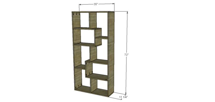 DIY Plans to Build a Massima Bookcase
