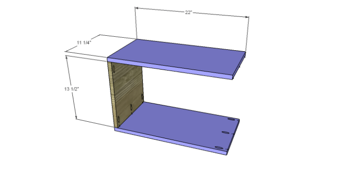 DIY Plans to Build a Massima Bookcase_Cubbies 1