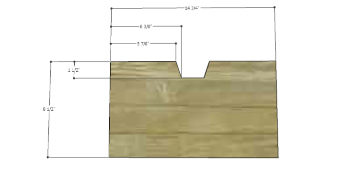 Plans to Build a Drake Chest_Middle Center Drawer Front