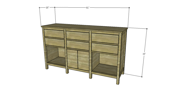 DIY Plans to Build an Alexander Sideboard