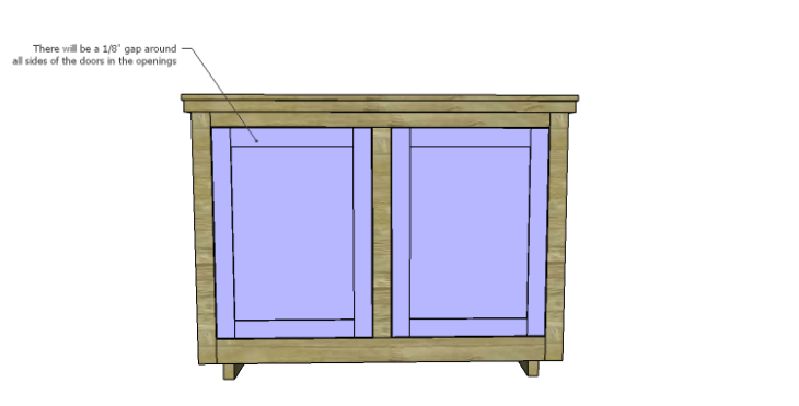 DIY Plans to Build an Eclectic Wood Sideboard_Doors 2