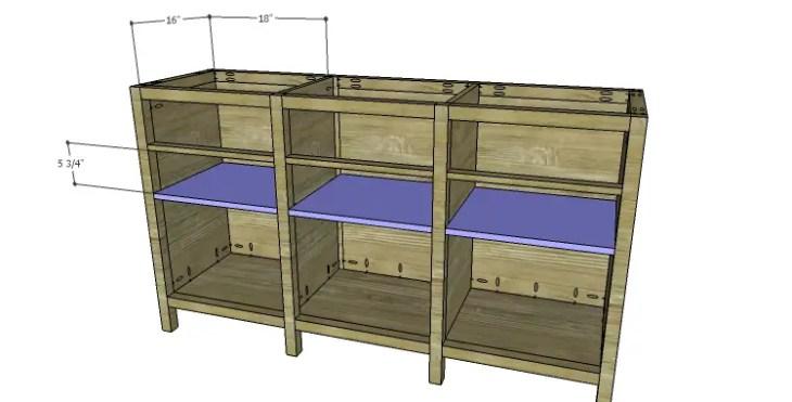 DIY Plans to Build an Alexander Sideboard_Shelves