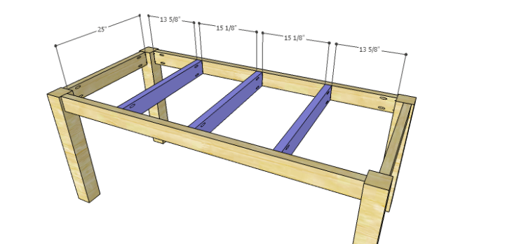 DIY Plans to Build a Burlington Dining Table_Center Supports
