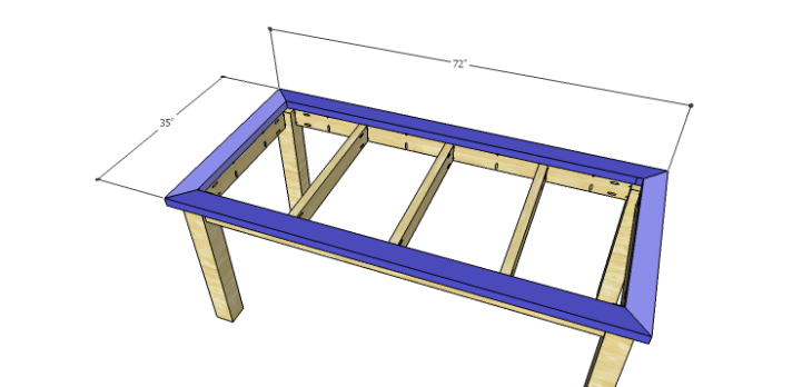 DIY Plans to Build a Burlington Dining Table_Top Frame