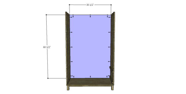 DIY Plans to Build a Starling Armoire_Back