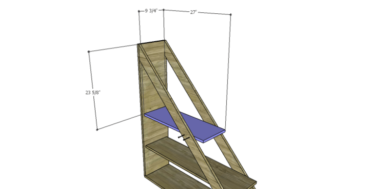 DIY Plans to Build a Henry Bookcase_Shelf 2