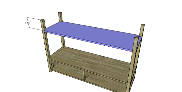 DIY Plans to Build an Edinburgh Console Table_Upper Bottom