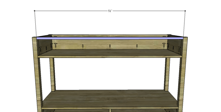 DIY Plans to Build an Edinburgh Console Table_Upper Stretcher