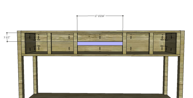DIY Plans to Build a Tuscana Console Table_Center Stretcher
