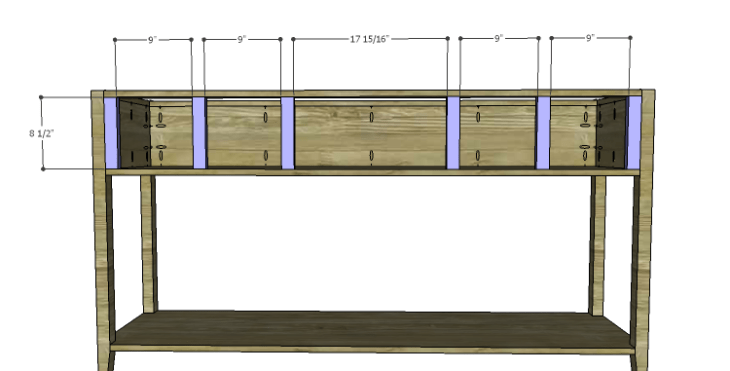 DIY Plans to Build a Tuscana Console Table_Dividers