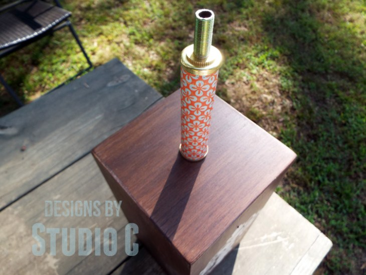 DIY Plans to Build a Lamp Base with Plywood_Socket Cover