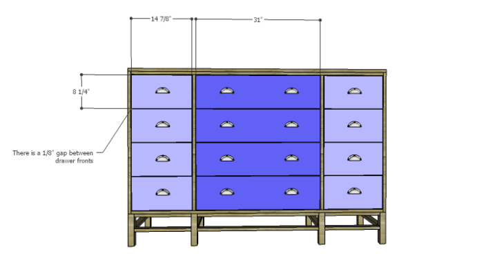 DIY Plans to Build a Serenity Dresser_Drawer Fronts