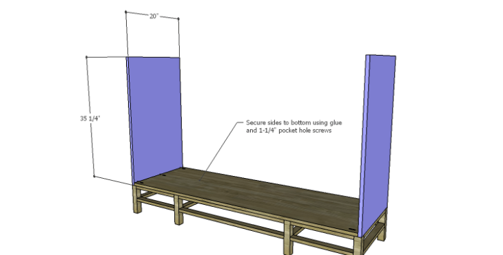 DIY Plans to Build a Serenity Dresser_Sides
