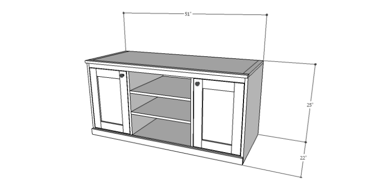 DIY Plans to Build a Piedmont Media Console