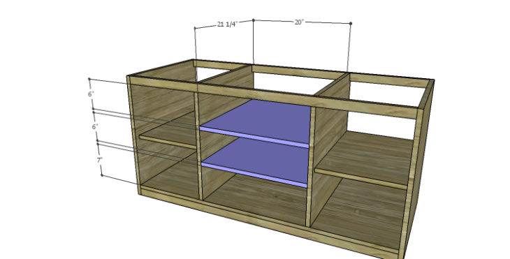 DIY Plans to Build a Piedmont Media Console_Center Shelves