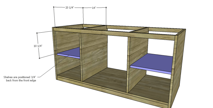DIY Plans to Build a Piedmont Media Console_Outer Shelves