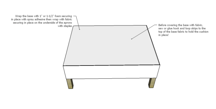 DIY Plans to Build the Carlsbad Ottoman_Base Foam & Fabric