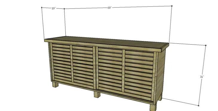 DIY Plans to Build a Slat-Door Sideboard