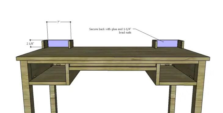 DIY Plans to Build a Magnolia Vanity Table_Upper Drawer Back