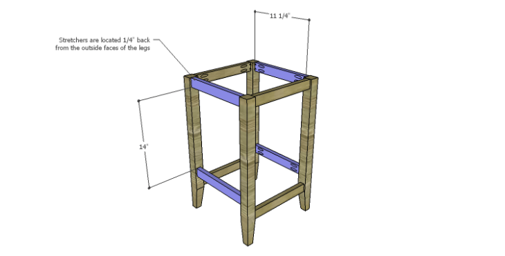 DIY Plans to Build a McKenzie Bar Stool_Stretchers