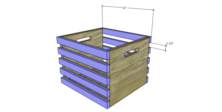 DIY Plans to Build a Laura Storage Bench_Crate Side Slats